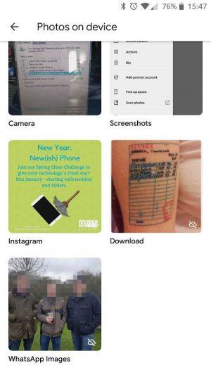 Photos on Device